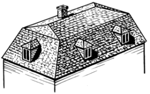 Traditional mansard roofs have two sloping sides, with the second slope being dramatically steeper.