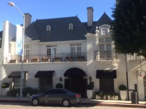 Traditional building in Beverly Hills that incorporates European-style elements.